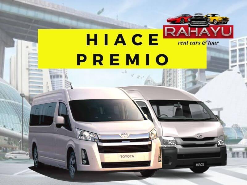 rental sewa mobil hiace premio terbaru surabaya malang raya